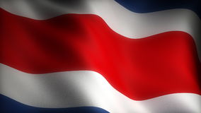Flag of Costa Rica stock video
