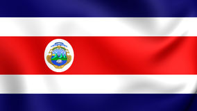 Flag of the Costa Rica. 3D Flag of the Costa Rica. Close Up Royalty Free Stock Images