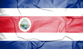 Flag of Costa Rica. 3d Rendered Flag of Costa Rica Royalty Free Stock Image