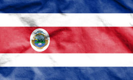 Flag of Costa Rica. 3d Rendered Flag of Costa Rica Stock Photography