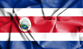 Flag of Costa Rica. 3d Rendered Flag of Costa Rica Royalty Free Stock Images