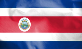 Flag of Costa Rica. 3d Rendered Flag of Costa Rica Stock Photos