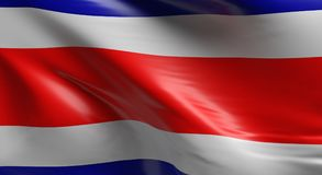 Flag of Costa Rica. Using as background, 3d rendering Stock Photos