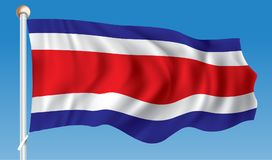 Flag of Costa Rica. Vector illustration Royalty Free Stock Image