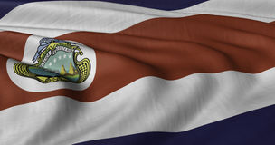 Flag of Costa Rica. Fluttering in light wind Stock Photo