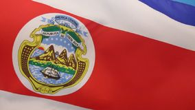 Flag of Costa Rica. The official flag of the Republic of Costa Rica is based on a design created in 1848. The state or national flag, also used as the military stock footage