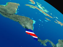 Flag of Costa Rica from space Royalty Free Stock Photos