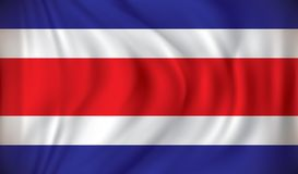 Flag of Costa Rica. Vector illustration Stock Image