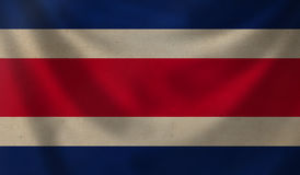 Flag of Costa Rica. Stock Image