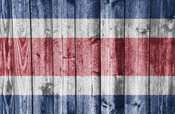 Flag of Costa Rica on weathered wood Stock Photos