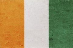 Flag of Cote d`Ivoire Grunge Royalty Free Stock Photography