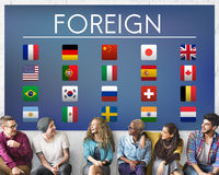 Flag Countries Foreign International Symbol Concept Royalty Free Stock Photography