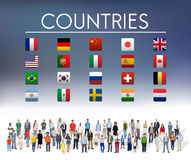 Flag Countries Foreign International Symbol Concept Royalty Free Stock Image