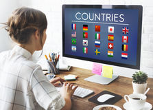 Flag Countries Foreign International Symbol Concept Stock Image