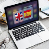 Flag Countries Foreign Word Translation Concept Royalty Free Stock Photos