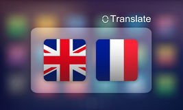 Flag Countries Foreign Word Translation Concept Royalty Free Stock Image