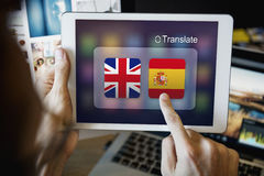 Flag Countries Foreign Word Translation Concept Royalty Free Stock Photography