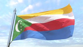 Weaving flag of the country Comoros royalty free illustration