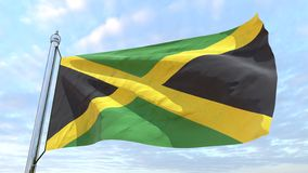Weaving flag of the country Jamaica vector illustration