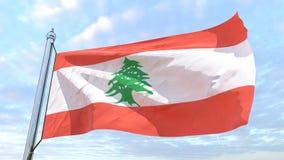 Weaving flag of the country Lebanon stock illustration