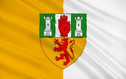 Flag of County Antrim in Ireland. Flag of County Antrim named after the town of Antrim is one of six counties that form Northern Ireland, situated in the north royalty free stock photos