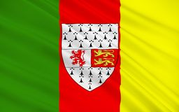 Flag of County Carlow is a county in Ireland. It is part of the South-East Region and is also located in the province of Leinster royalty free stock photos