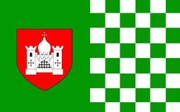 Flag of County Limerick is a county in Ireland. It is located in the province of Munster, and is also part of the Mid-West Region. Limerick City and County royalty free stock photography