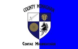 Flag of County Monaghan is a county in Ireland. It is part of the Border Region and is in the province of Ulster royalty free stock photos