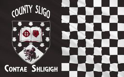 Flag of County Sligo is a county in Ireland. It is located in the Border Region and is also part of the province of Connacht. Sligo County Council is the local stock illustration