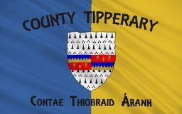 Flag of County Tipperary is a county in Ireland. Tipperary County Council is the local government authority for the county royalty free illustration