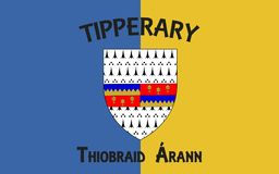 Flag of County Tipperary is a county in Ireland. Tipperary County Council is the local government authority for the county stock illustration