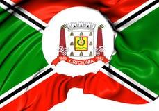 Flag of Criciuma, Brazil. Stock Photo