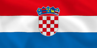 Flag of Croatia Stock Image