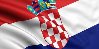 Flag Of Croatia Royalty Free Stock Photography