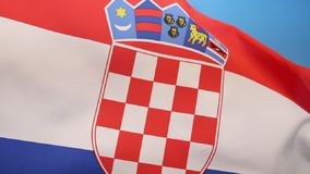 The flag of Croatia. Combines the colors of the flags of the Kingdom of Croatia (red and white), the Kingdom of Slavonia (white and blue) and the Kingdom of vector illustration