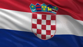 Flag of Croatia seamless loop Royalty Free Stock Images