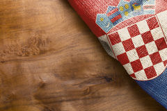 Flag of Croatia state Stock Photos