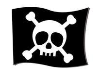 Flag crossbones. Symbolism of death Vector Illustration