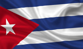 Flag of Cuba. 3d rendered flag of cuba Stock Images