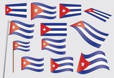 Flag of Cuba. Set of flags of Cuba vector illustration Stock Photos