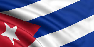 Flag Of Cuba. 3d rendered and waving flag of cuba Royalty Free Stock Photography