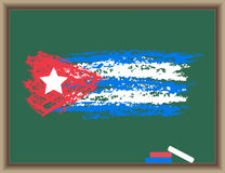 Flag of Cuba on a blackboard Royalty Free Stock Images
