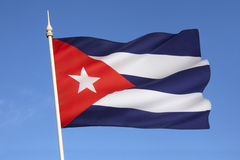 Flag of Cuba - The Caribbean Royalty Free Stock Photo