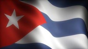Flag of Cuba stock footage