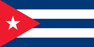 Flag of Cuba - Cuban. Flag of Cuba vector Illustration Stock Photo