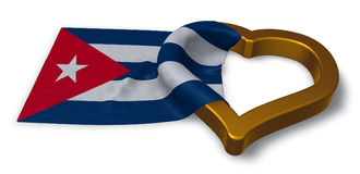 Flag of cuba and heart symbol Stock Image