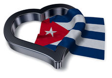Flag of cuba and heart symbol Royalty Free Stock Image