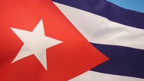 Flag of Cuba. The national flag of the Caribbean island of Cuba stock video footage