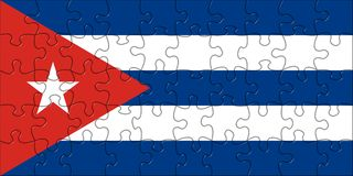 Flag of Cuba puzzle Royalty Free Stock Photo