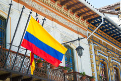 Flag in Cuenca, Ecuador Stock Photos